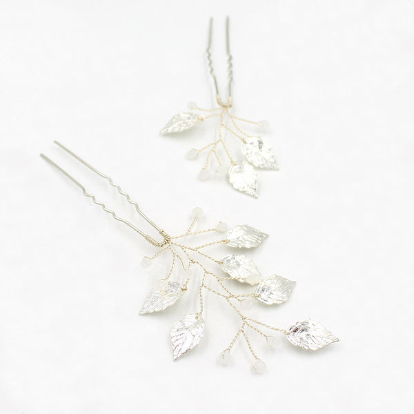 Set Of Two Handmade Bridal Accessory Hairpins