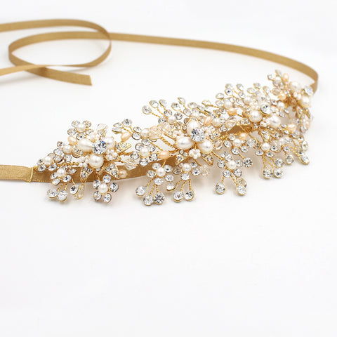 Unique Bridal Headband Tiara With Rhinestones