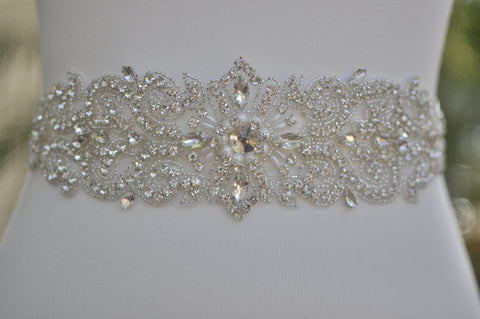 Rhinestone crystal wedding sash