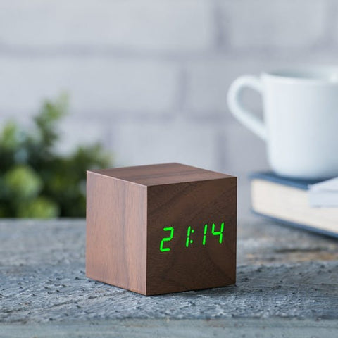 Cube Click Clock by Ginko Design