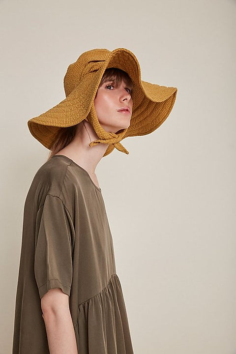 Italiana Floppy Hat Mustard by Rita Row