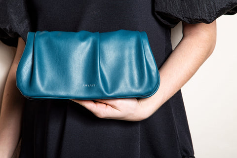 Mabel M Vegan Bag in Dark Ocean by Inyati