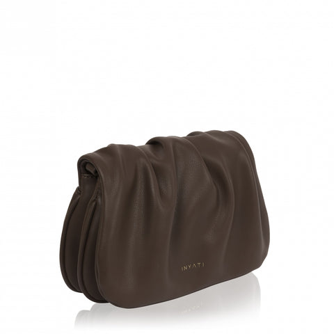 Mabel-S Vegan Bag in Chocolate by Inyati