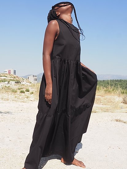 Saga Sleeveless Dress Black by Signe