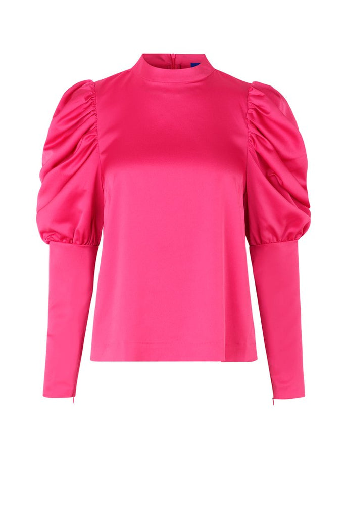Alma Blouse in Shocking Pink by Crās