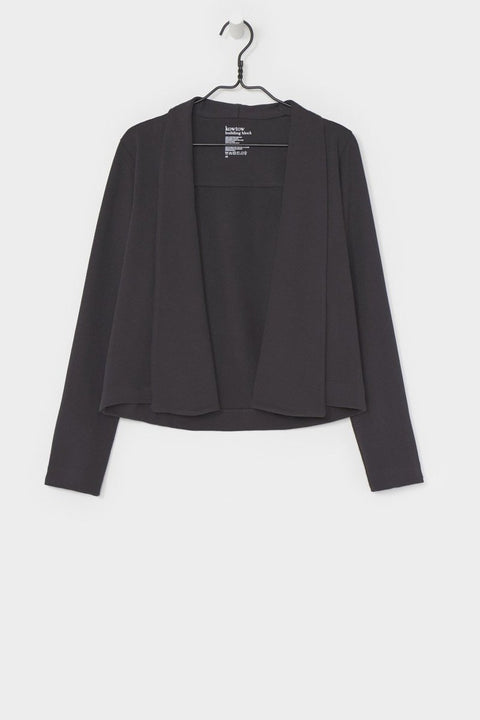 Building Block Cardigan in Charcoal- Kowtow