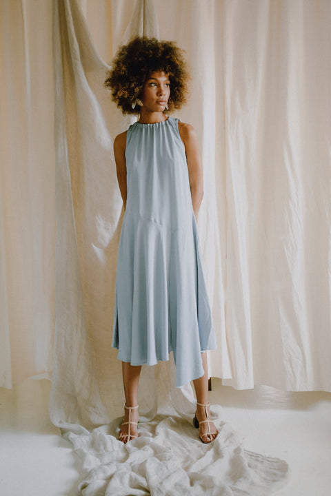 Hi-Low Summer Dress Good Grey by Cossac