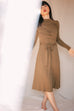 Olive Drape Knit Dress by Cossac
