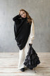 JULE´s BLACK RUFFLE BAG by KM by Lange
