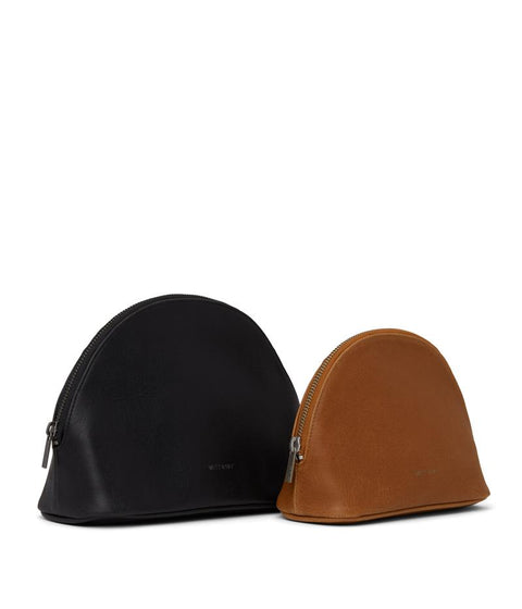 Duet Toiletry Cases in Black/Chili Matte by Matt & Nat
