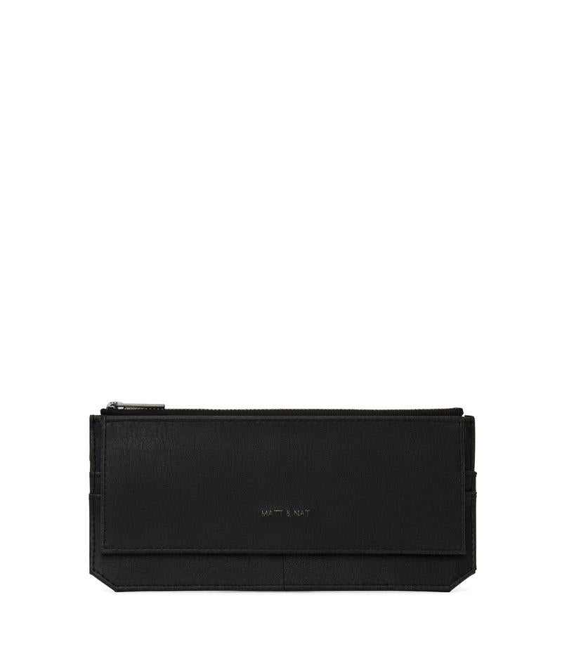 Perla Flat Wallet Black by Matt & Nat