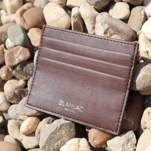 Vegan Card Holder Brown - Apple Skin by Blanlac