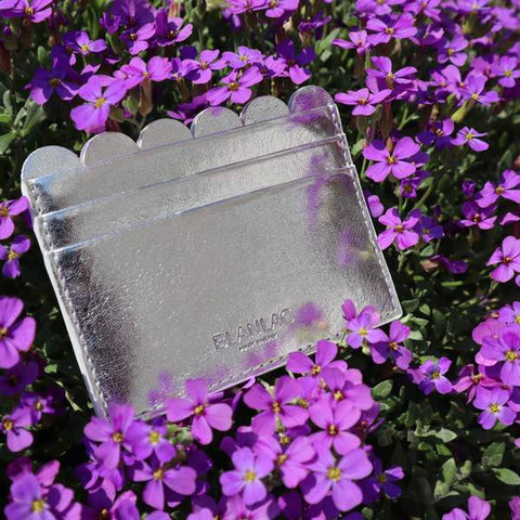 Vegan Card Holder Silver by Blanlac