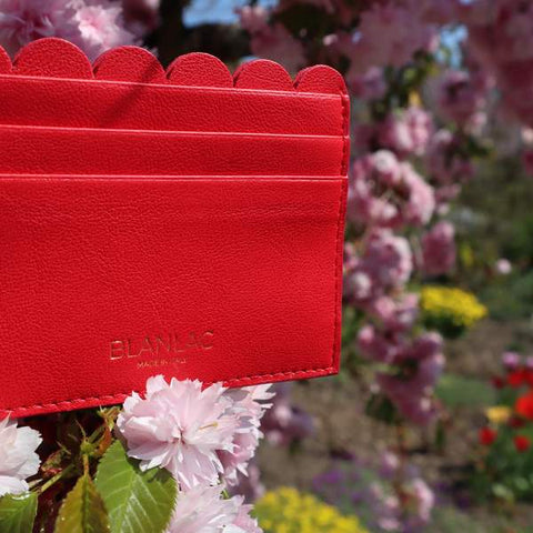 Vegan Card Holder Red by Blanlac