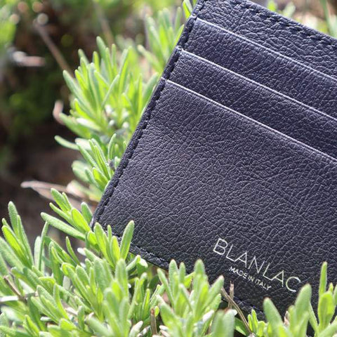 Vegan Card Holder Black - Apple Skin by Blanlac
