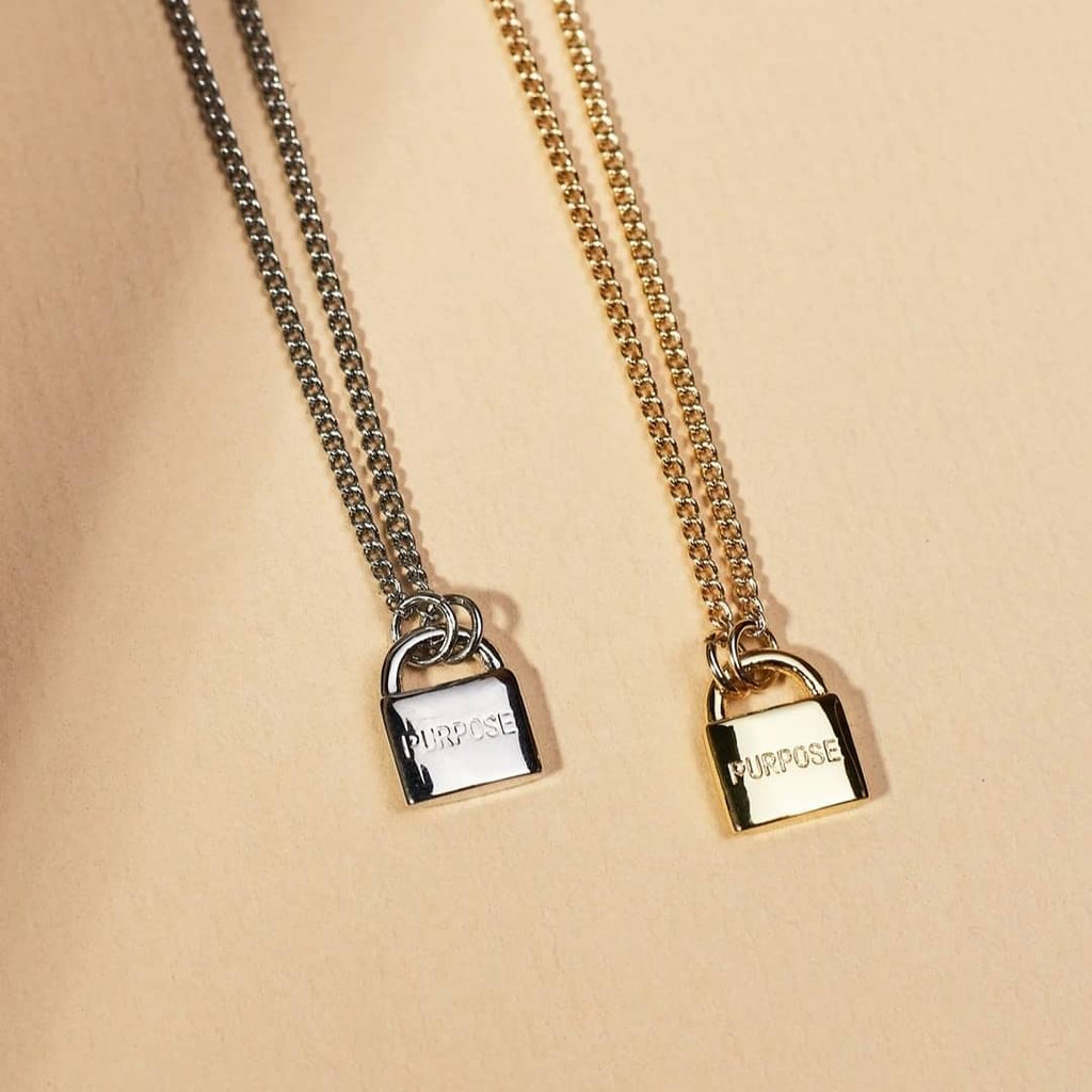 Love Mini Padlock Necklace by The Giving Keys