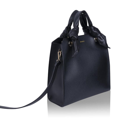 Megan Black Vegan Tote Bag by Inyati