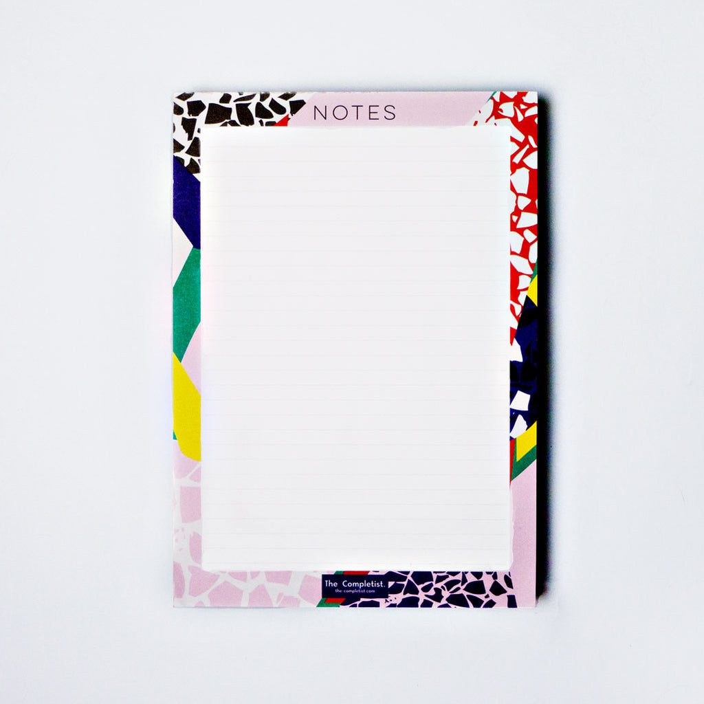 Terrazzo Cut Out Notepad by The Completist