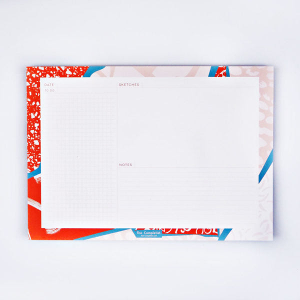Orange Patchwork Organiser Pad by The Completist
