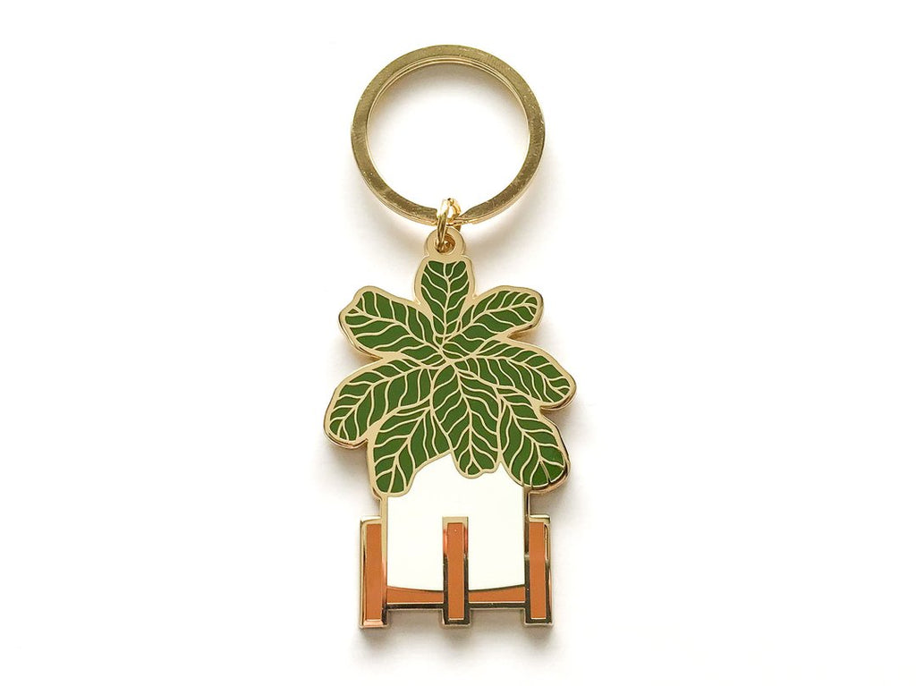 Fiddle Leaf Fig Enamel Keychain by Paper Anchor Co.