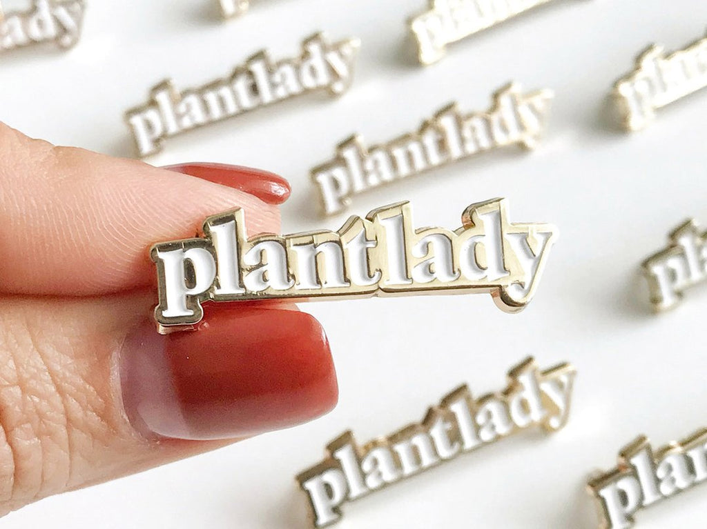 Plant Lady Enamel Lapel Pin by Paper Anchor Co.