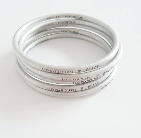 Luxembourg Peacebomb Bangle by Article 22