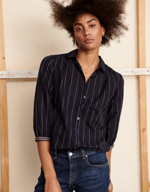 Willow Blouse in Blue/Black by Alchemist