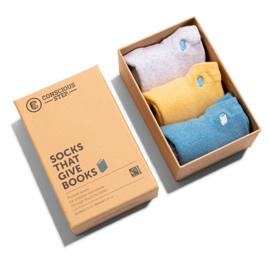 Conscious Step:  Socks that Give Books Gift Box