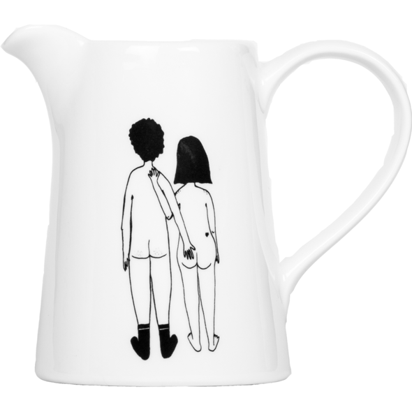 Jug Naked Couple Back by Helen B