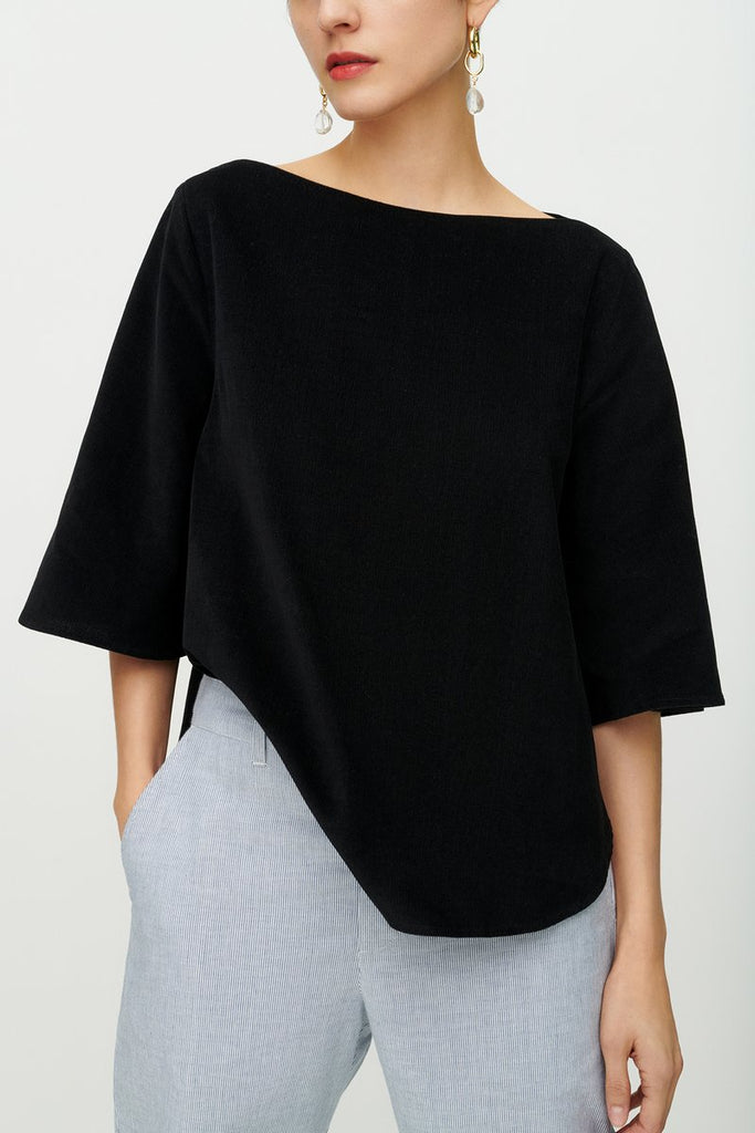 Hebe Top Black by Kowtow