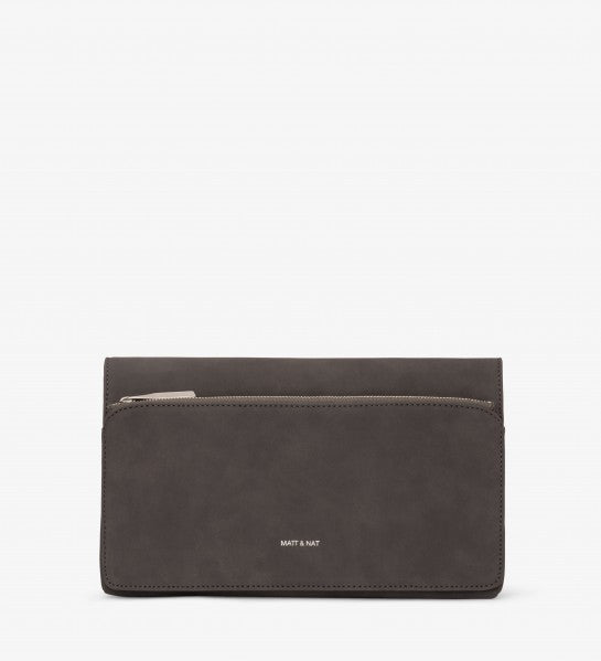 Suede Grey Clutch by Matt and Nat