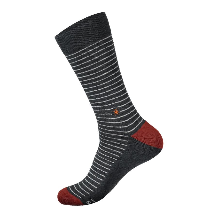 Conscious Step:  Socks that Fight Malaria Grey Stripe