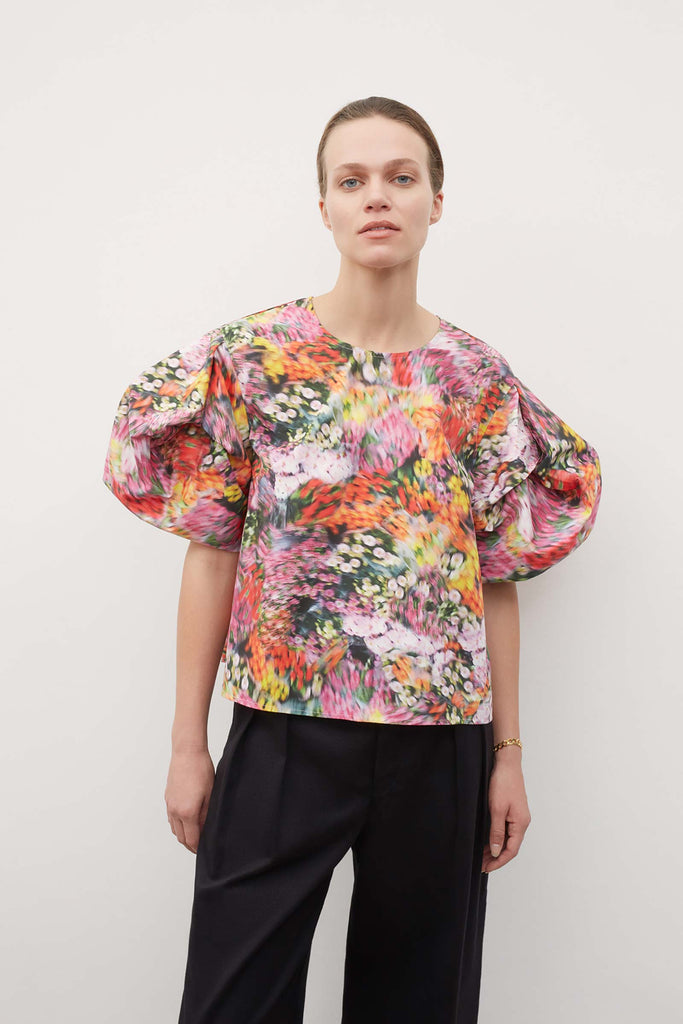 Origami Top - Hazy Floral by Kowtow