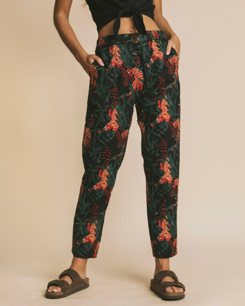 Panthers Ella Pants by Thinking Mu