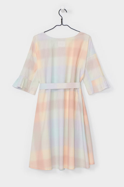Shutter Dress in Pastel Check
