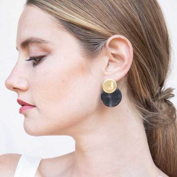 Contrast Coin Stud Earrings by Soko