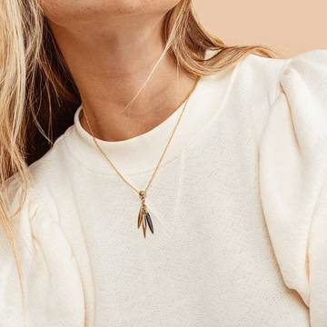 Mini Quill Delicate Necklace by Soko