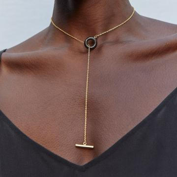 Mixed Material Kumi Lariat Necklace by Soko