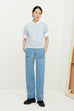 Wave Tee in Light Blue by Kowtow