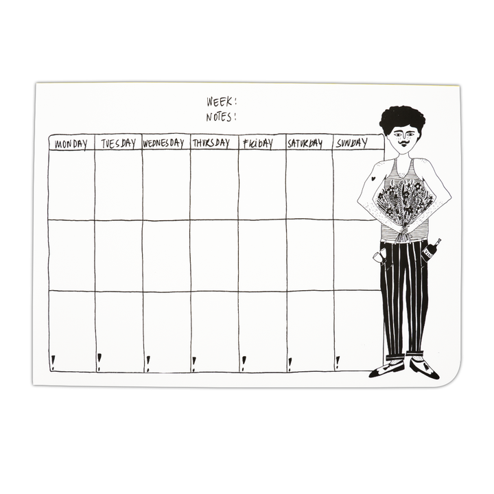 Weekly Planner Pin Guy Up by Helen B