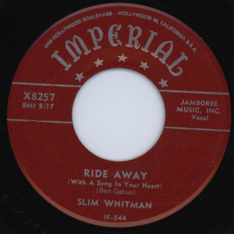 "Slim Whitman | Ride Away / Beautiful Dreamer | Imperial X8257 | 7""&CD"