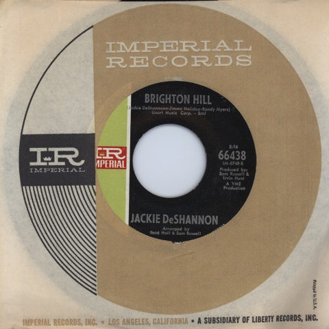 "Jackie DeShannon | Brighton Hill / You Can Come To Me | Imperial 66438 | 7""&CD"