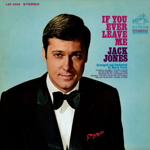 Jack Jones | If You Ever Leave Me | RCA Victor LSP-3969 | LP&CD