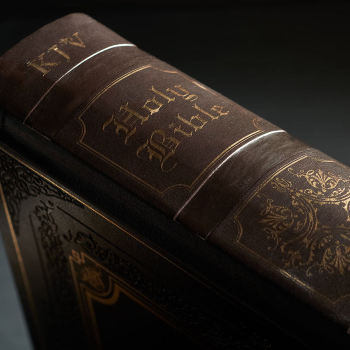 King James Bible Closeup