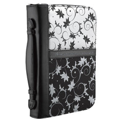Black & White Floral Psalm 46:10 Bible Cover