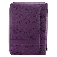 I Can Do All Things Purple Faux Leather Fashion Bible Cover - Philippians 4:13