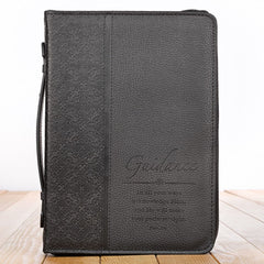 Guidance Black Faux Leather Classic Bible Cover - Proverbs 3:6