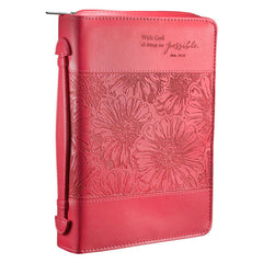 All Things Are Possible Faux Leather Fashion  Bible Cover -  Matthew 19:26