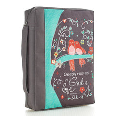 Deeply Rooted in God's Love Poly-canvas Value Bible Cover -  Ephesians 3:17