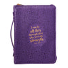 I Can Do All Things Positively Purple Faux Leather Fashion Bible Cover - Philippians 4:13